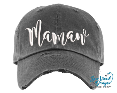 Mamaw Baseball Cap OR Ponytail Hat - Sew Vivid Designs