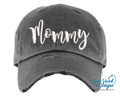 Mommy Baseball Cap OR Ponytail Hat - Sew Vivid Designs