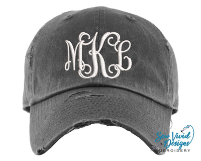 Monogrammed Baseball Cap OR Ponytail Hat - Sew Vivid Designs