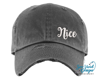 Nice Hat | Baseball Cap OR Ponytail Hat - Sew Vivid Designs