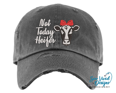 Not Today Heifer Hat | Baseball Cap OR Ponytail Hat - Sew Vivid Designs