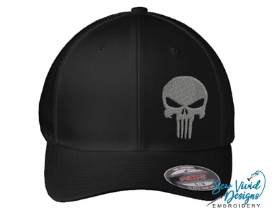 Punisher Skull FlexFit Hat - Sew Vivid Designs