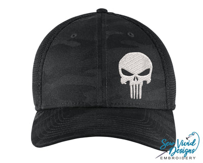 Punisher Skull New Era Hat - Sew Vivid Designs