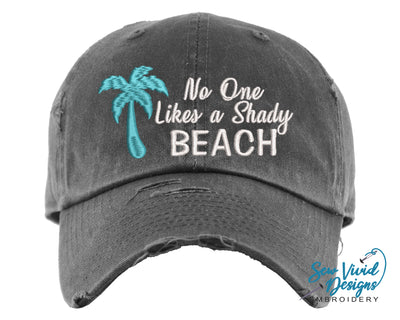 No One Likes a Shady Beach Hat | Baseball Cap OR Ponytail Hat - Sew Vivid Designs
