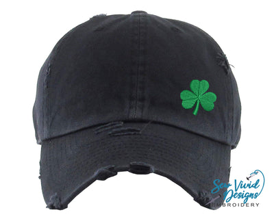Shamrock Hat | Baseball Cap OR Ponytail Hat - Sew Vivid Designs