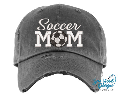 Soccer Mom Hat | Baseball Cap OR Ponytail Hat - Sew Vivid Designs