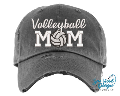 Volleyball Mom Hat | Baseball Cap OR Ponytail Hat - Sew Vivid Designs