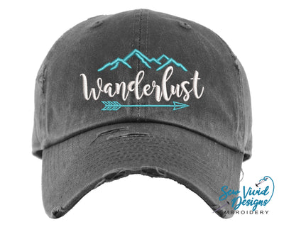 Wanderlust Baseball Cap OR Ponytail Hat - Sew Vivid Designs