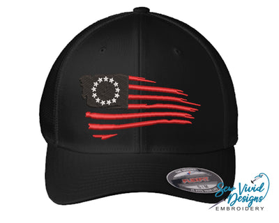 Betsy Ross Flag FlexFit Hat - Sew Vivid Designs