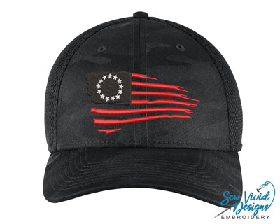 Betsy Ross Flag New Era Hat - Sew Vivid Designs