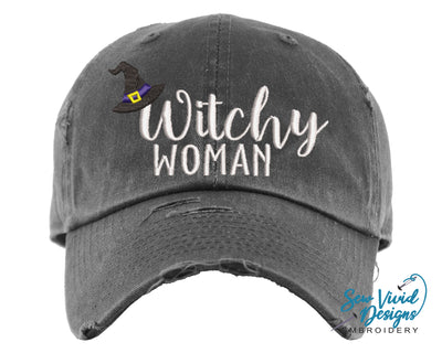 Witchy Woman Hat | Baseball Cap OR Ponytail Hat - Sew Vivid Designs
