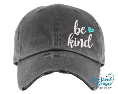 Be Kind Baseball Cap OR Ponytail Hat - Sew Vivid Designs