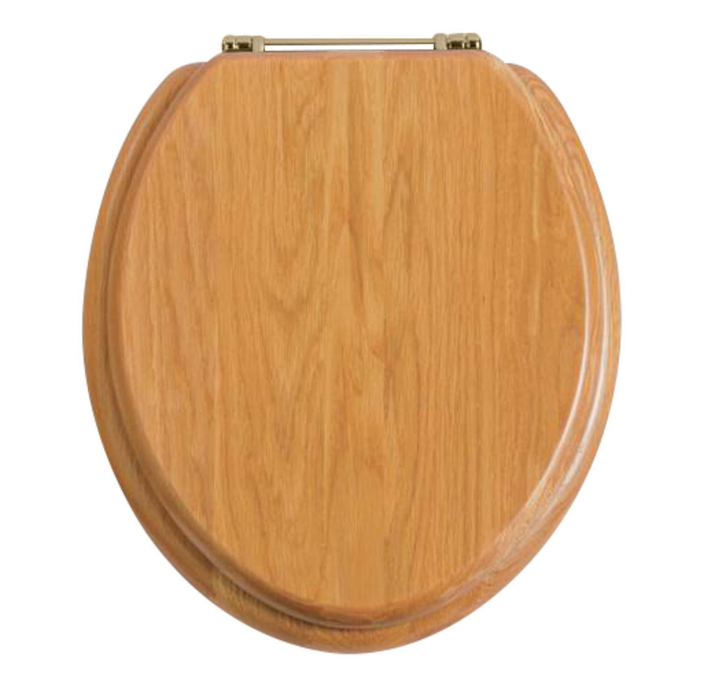 HB - Toilet Seat Light Timber / Gold