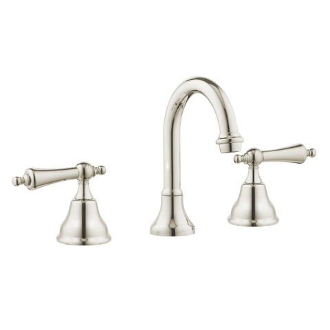 Colonial Bathroom Taps - Goose Spout - Metal Levers