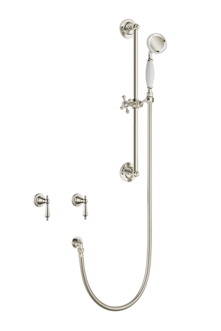 Antique Shower System - Metal Levers