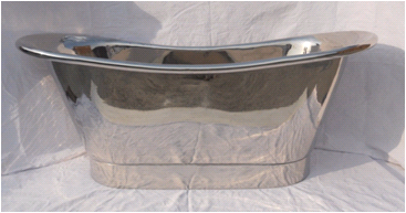 Nickel Freestanding Roll Bath