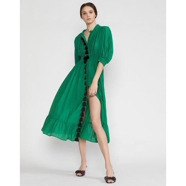 Rani Green Tassel Dress