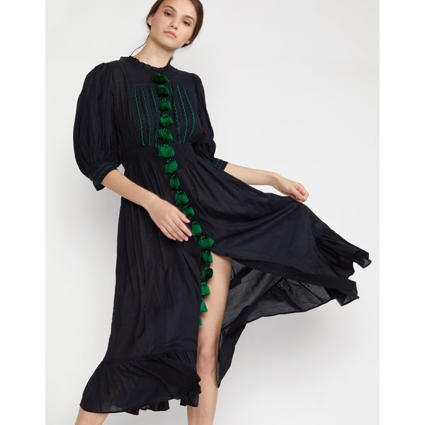 Rani Black Tassel Dress