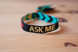 Ask Me Wristband - LGBTQ