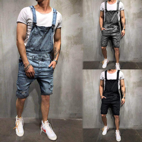 New Fashion Men's Sling Jeans Jumpsuit