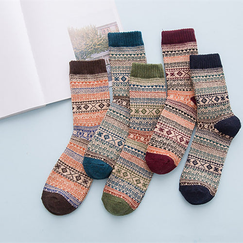 Retro high-end comfort national style warm socks