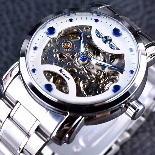 Fashion Luxury Stainless Steel Self-Wind Mechanical Watch