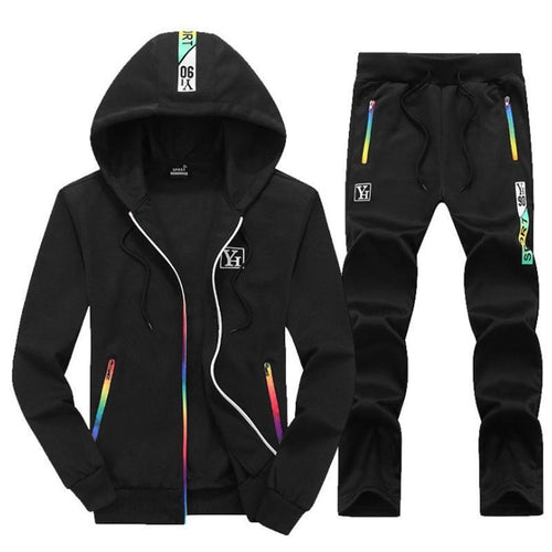 Men Hooded Printed Sport Suits