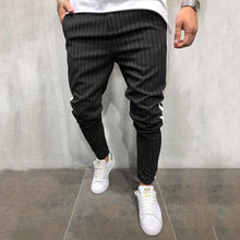 Load image into Gallery viewer, Fashion Mens Splice Stripe Plain Pants