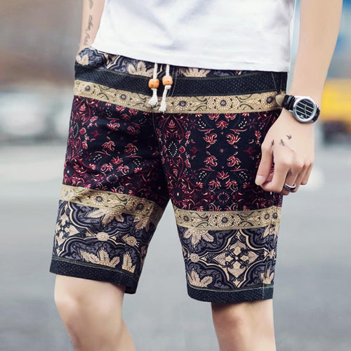 Loose Cotton Twist Beach Shorts Pants