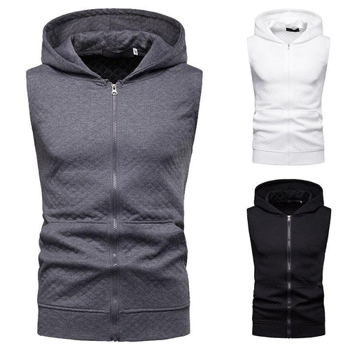 Men's Summer Slim Mesh Hooded Vest