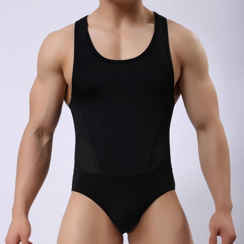 Men's Underwear Sports Bodysuit Slim Workout Clothes