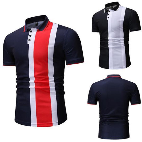 Summer Men's Colorblock Short Sleeve Casual T-Shirt