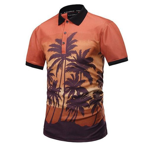 Men's Summer Print Fashion Short-Sleeved T-Shirt