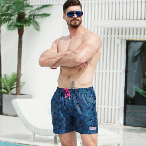 Men's Camouflage Print Beach Shorts Fashion Travel Vacation Surfing Swim Trunks