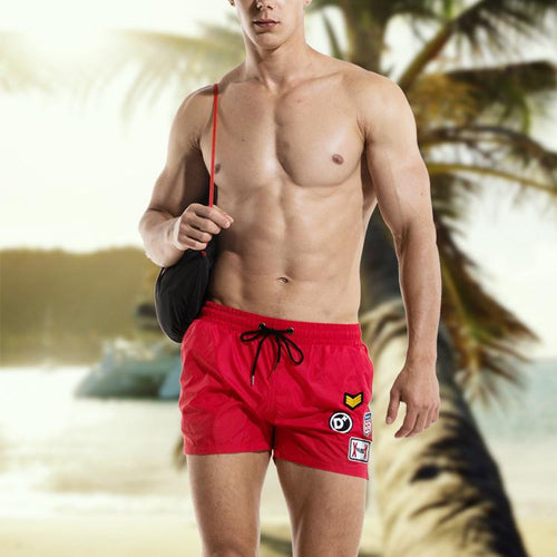 Men's Quick-Drying Loose Casual Shorts Beach Swim Trunks