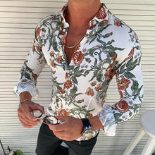 Load image into Gallery viewer, Fashion Floral Pattern Slim Fit Shirt