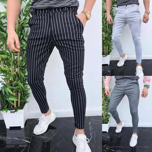 Summer Striped Men's Casual Slim Fit Pants