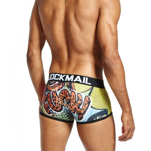 Men's Boxer Briefs Low Waist Tiger Print Underwear