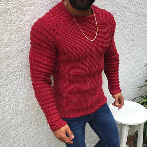 Casual Simple Pure Colour Round Neck Sweater