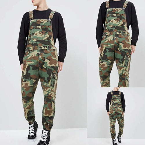 Street Fashion Slim Fit Camouflage Overalls