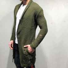 Load image into Gallery viewer, Fashion Green Fruit Collar Men's Long Cardigan Sweaters