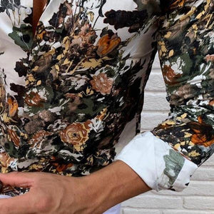 Casual Men's Lapel Single-Breasted Printed Shirt