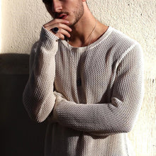 Load image into Gallery viewer, Casual Slim Fit Pure Colour Round Neck Sweater