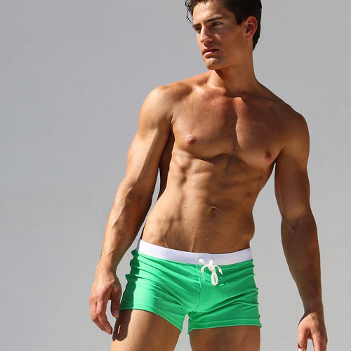 Men's Boxer Solid Color Sports Summer Swim Shorts