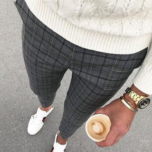 Load image into Gallery viewer, Men's Casual Street Plaid Cropped Pants