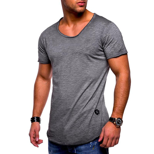 New men's short-sleeved t-shirt round neck  bottoming  t-shirt
