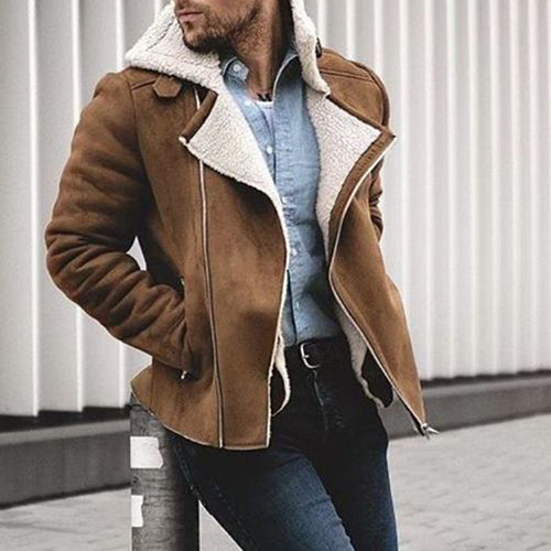 Fashion motorcycle suede short jacket