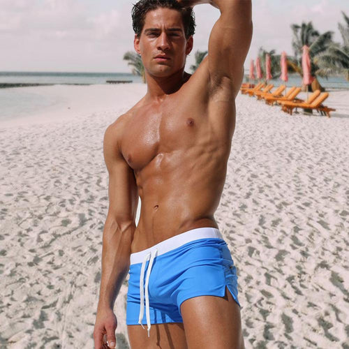 Summer Men's Boxer Fashion Swim Trunks