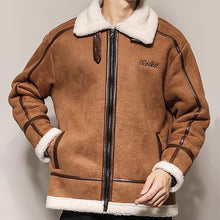 Load image into Gallery viewer, Trendy Fur Collar Lambskin Jacket