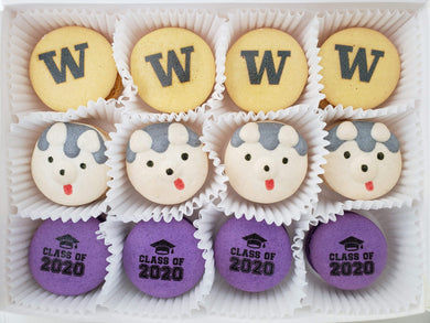 UW Huskies Graduation Dozen Gift Box